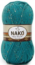 Пряжа Nako SUPER INCI HIT TWEED 6634 м.волна