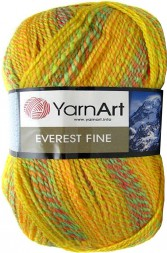 Пряжа Yarnart EVEREST FINE 8032 желт/абрикос