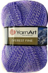 Пряжа Yarnart EVEREST FINE 8033 неж.сирень принт