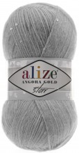 Пряжа Alize ANGORA GOLD STAR 21 серый