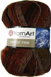 Пряжа Yarnart EVEREST FINE 8034 коричн/беж