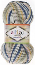 Пряжа Alize COTTON GOLD PLUS MULTICOLOR 52200 джинс принт