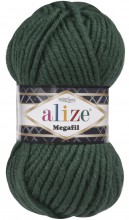 Пряжа Alize SUPERLANA MEGAFIL 426 т.зеленый