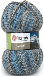 Пряжа Yarnart EVEREST 7030 голубой