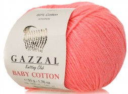 Пряжа Gazzal BABY COTTON 3460 св.коралл