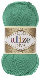 Пряжа Alize DIVA SILK EFFECT 623 изумруд