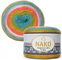 Пряжа Nako ANGORA LUKS COLOR 81910 радуга