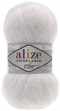 Пряжа Alize ANGORA GOLD STAR 55 белый