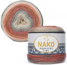 Пряжа Nako ANGORA LUKS COLOR 81913 терракот/беж