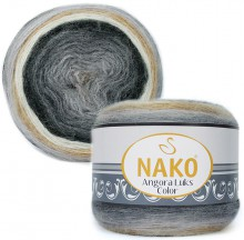 Пряжа Nako ANGORA LUKS COLOR 81914 сер/черн/беж