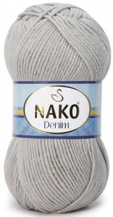 Пряжа Nako DENIM 10344 св.серый