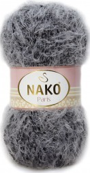 Пряжа Nako PARIS 21305 серо-черный