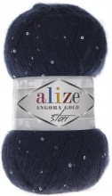 Пряжа Alize ANGORA GOLD STAR 58 т.синий