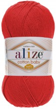 Пряжа Alize COTTON BABY SOFT 259 алый