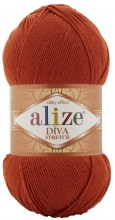 Пряжа Alize DIVA STRETCH 36 терракот