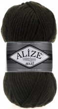 Пряжа Alize SUPERLANA MAXI 241 т.зеленый