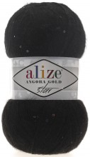 Пряжа Alize ANGORA GOLD STAR 60 черный