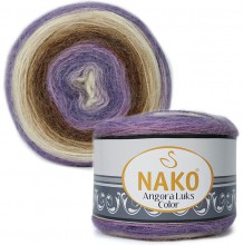 Пряжа Nako ANGORA LUKS COLOR 81921 фиолет/коричн/беж