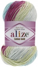 Пряжа Alize COTTON GOLD BATIK 6519 роз/лимон