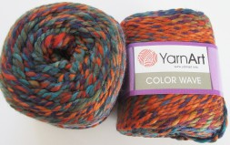 Пряжа Yarnart COLOR WAVE 110 петроль