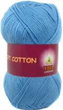 Пряжа Vita cotton SOFT COTTON 1820 голубой