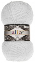 Пряжа Alize SUPERLANA MIDI LUX 55 белый