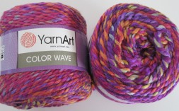 Пряжа Yarnart COLOR WAVE 113 фиолет