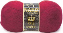 Пряжа Nako KING MOHER 11279 бордо