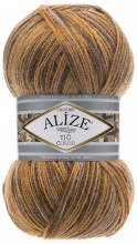 Пряжа Alize SUPERLANA TIG COLOR & BATIK 51847 горчичный принт