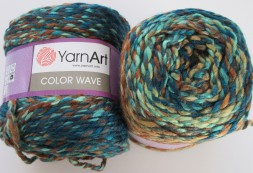 Пряжа Yarnart COLOR WAVE 114 м.волна