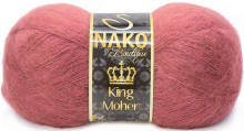 Пряжа Nako KING MOHER 11280 брусника