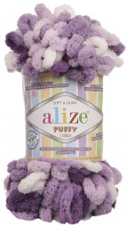 Пряжа Alize PUFFY COLOR 5923 сиреневый принт
