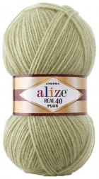 Пряжа Alize ANGORA REAL 40 PLUS 300 шалфей