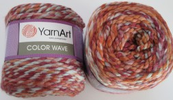 Пряжа Yarnart COLOR WAVE 119 коралл