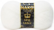 Пряжа Nako KING MOHER 208 белый