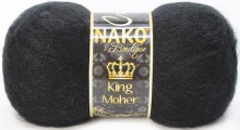 Пряжа Nako KING MOHER 217 черный