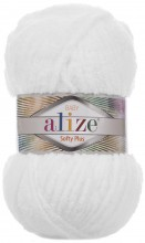 Пряжа Alize SOFTY PLUS 55 белый