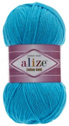 Пряжа Alize COTTON GOLD 16 гол.бирюза