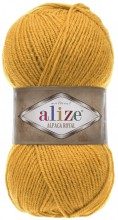 Пряжа Alize ALPACA ROYAL 02 горчица
