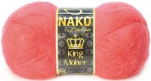 Пряжа Nako KING MOHER 991 коралл