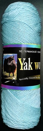 Пряжа Color City YAK WOOL (ЯК ВУЛ) 328 аквамарин