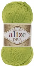 Пряжа Alize DIVA SILK EFFECT 109 лайм