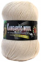 Пряжа Color City KANGAROO WOOL 111 крем