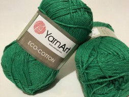 Пряжа Yarnart ECO COTTON 767 яр.зелень
