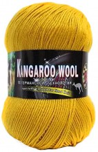 Пряжа Color City KANGAROO WOOL 123 горчица