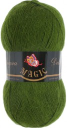 Пряжа Magic ANGORA DELICATE 1108 зеленый кедр