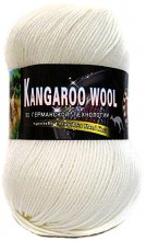 Пряжа Color City KANGAROO WOOL 2001 белый