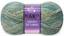 Пряжа Nako NAKOLEN DREAMS 31444 хаки меланж
