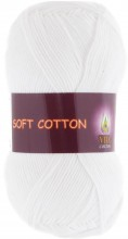 Пряжа Vita cotton SOFT COTTON 1801 белый