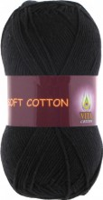 Пряжа Vita cotton SOFT COTTON 1802 черный